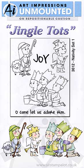 Jingle Tots - Unmounted Stamps - Nativity Set 1