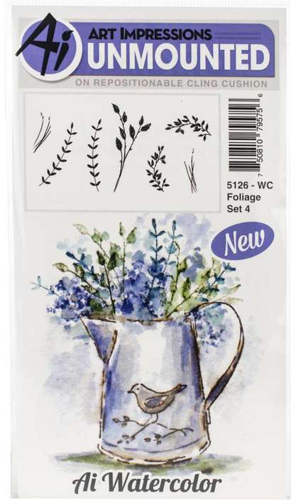 Art Impressions Watercolor - Foliage Set 4 (Cling Rubber Stamps)