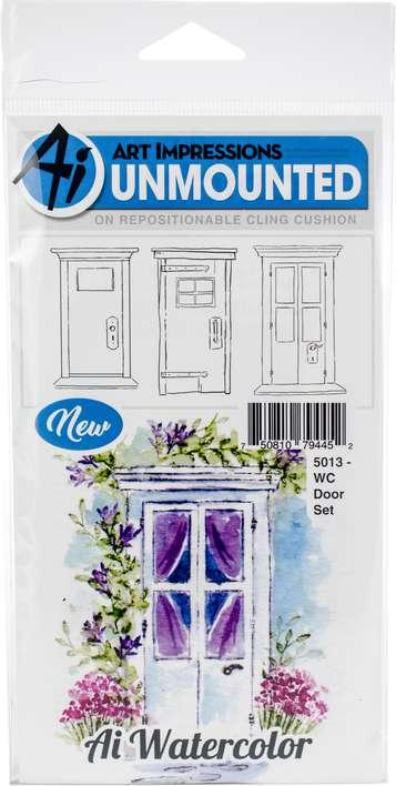 Art Impressions Watercolor - Door (Cling Rubber Stamps)