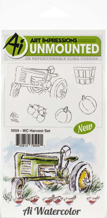 Art Impressions Watercolor - Harvest (Cling Rubber Stamps)