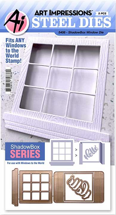 Art Impressions Windows To The World Die - Shadowbox