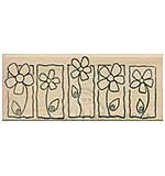 Row of Framed Flowers