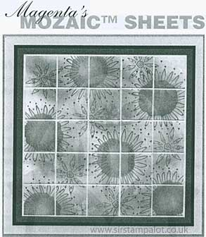 "Magenta Style - 1\"" Mosaic Tiles - Self Adhesive"