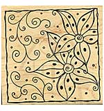 Swirls and Dots Floral Tile