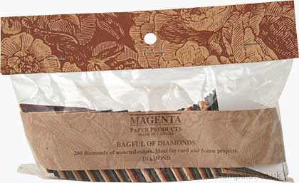SO: Magenta Diecut Shapes - Bagful of Diamonds (200)