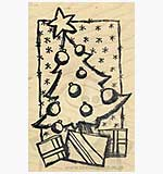 SO: Christmas Tree and Presents in Star Background