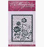 SO: Magenta Self-Cling Rubber Stamp - Delicate Bouquet