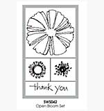 Stampendous Wood Mounted Stamp Set - Open Bloom box set