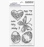 Perfectly Clear Stamps - Paisley Spring