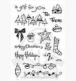Perfectly Clear Stamps - Tiny Christmas Tag