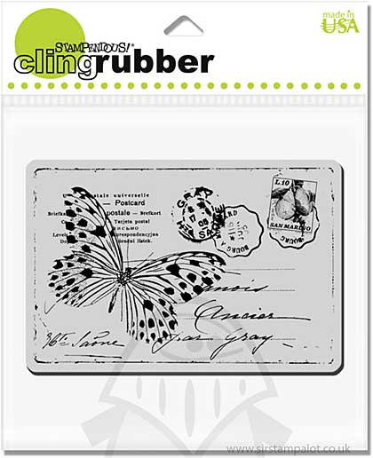 SO: Stampendous Cling - Butterfly Post