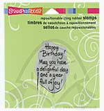 Stampendous Cling - Delightful Happy Birthday