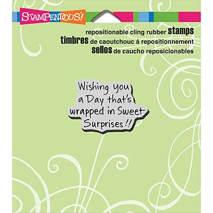 SO: Stampendous Cling Rubber Stamp 3.5x4 Sheet - Sweet Surprises