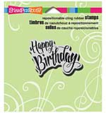 Stampendous Cling Rubber Stamp 3.5x4 Sheet - Penned Birthday