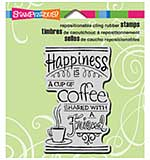 Stampendous Cling Rubber Stamp 3.5x4 Sheet - Shared Coffee