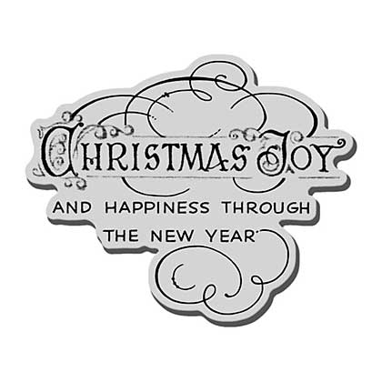 SO: Stampendous Christmas Cling Rubber Stamp 3.5x4 Sheet - Christmas Year