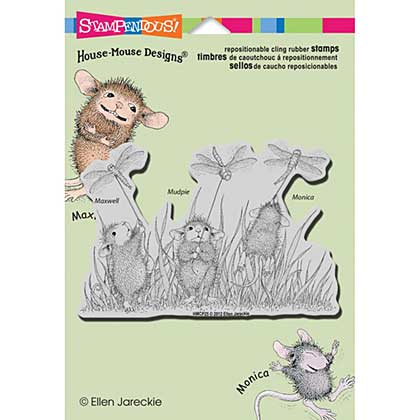 Stampendous House Mouse Cling Rubber Stamp 4.5x5.5 Sheet - Dragonfly Kites