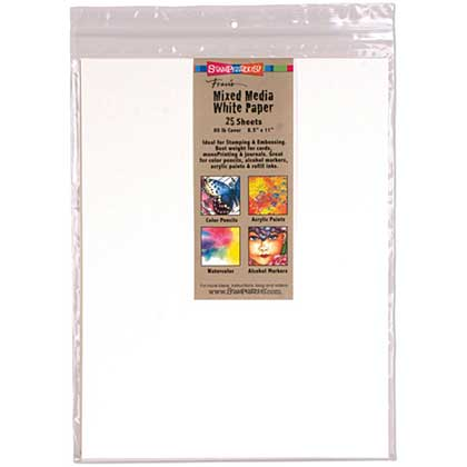 Stampendous White Paper 8.5x11 25pk