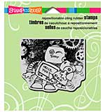 SO: Stampendous Cling Rubber Stamp 4.75x4.5 Sheet - Screwloose Hug
