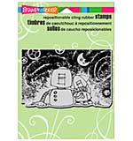 Stampendous Cling Rubber Stamp 6.5x4.5 Sheet - Screwloose Night Sky