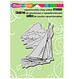 Stampendous Cling Rubber Stamp 6.5x4.5 Sheet - Wind In Sails