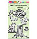 SO: Stampendous Cling Rubber Stamp 7x5 Sheet - Pop Up Forest