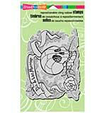 Stampendous Halloween Cling Rubber Stamp 7.75x4.5 - Penpattern Skull