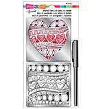 SO: Stampendous Frans Stencil Duo with Pen and Cards - Heart