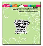 SO: Stampendous Cling Stamp - Sending Wishes