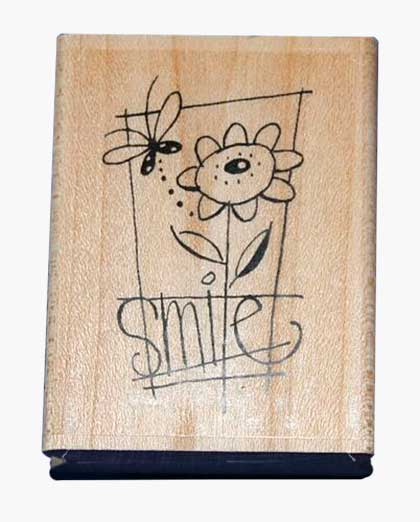 SO: Stampendous Wood Mounted Stamp - Smile Word