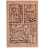 Stampendous Wood Mounted Stamp - Garden Sampler