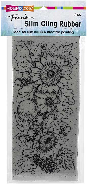 Stampendous Cling Stamp - Slim Fall Sunflowers
