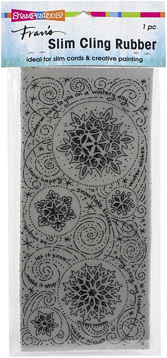 Stampendous Cling Stamp - Slim Snowflake Wishes