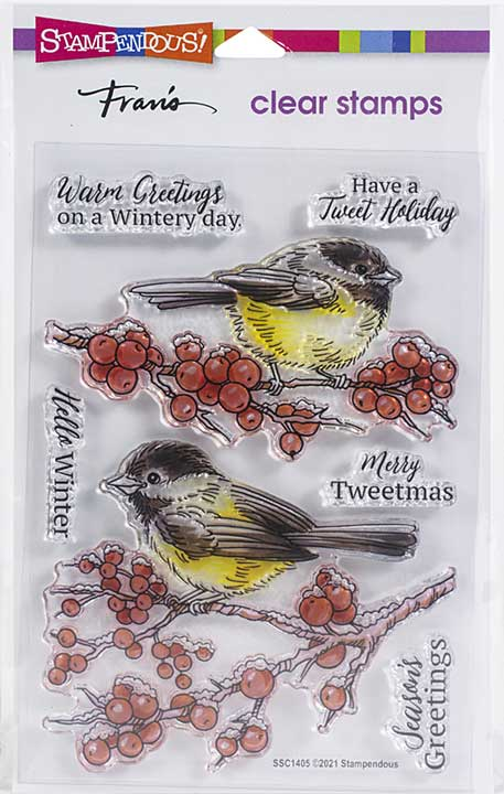 Stampendous Perfectly Clear Stamps - Chickadee Holiday