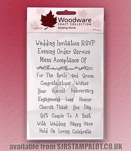Clear Magic Stamps - Wedding Words