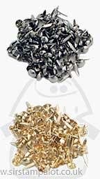 Brads - Mini Round Brads (100 Gold & 100 Silver)