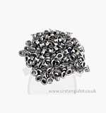 Eyelets - Round Silver Eyelets 100 (1 8th inch)