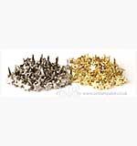 Brads - Mini Star Brads (80 Gold and 80 Silver)