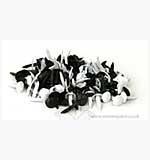 SO: Brads - Round - Black and White (100)
