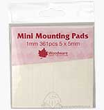 SO: Mini Foam Mounting Pads - White (1mm)