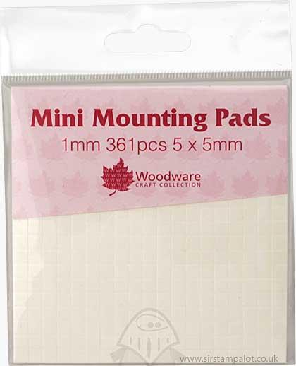 Mini Foam Mounting Pads - White (1mm)