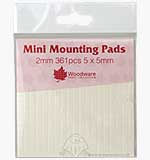SO: Mini Foam Mounting Pads - White (2mm)