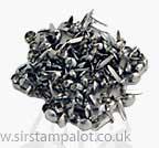Brads - 6mm Round Brads - Silver (40)