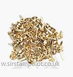 SO: Brads - 6mm Round Brads - Gold (40)