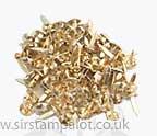 Brads - 6mm Round Brads - Gold (40)