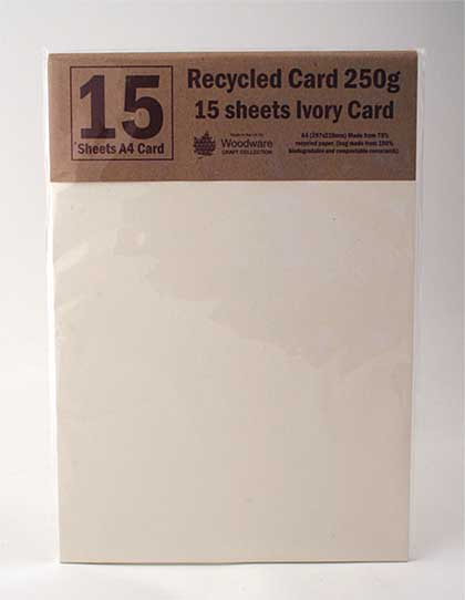 Ivory Recycled Card Sheets (15 pcs)
