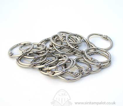 Metallic Book Rings - 38mm Silver Book Rings