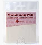 SO: Mini Foam Mounting Pads - White (20x10)