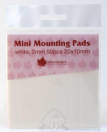 Mini Foam Mounting Pads - White (20x10)