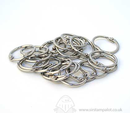 Metallic Book Rings - 19mm Silver Book Rings